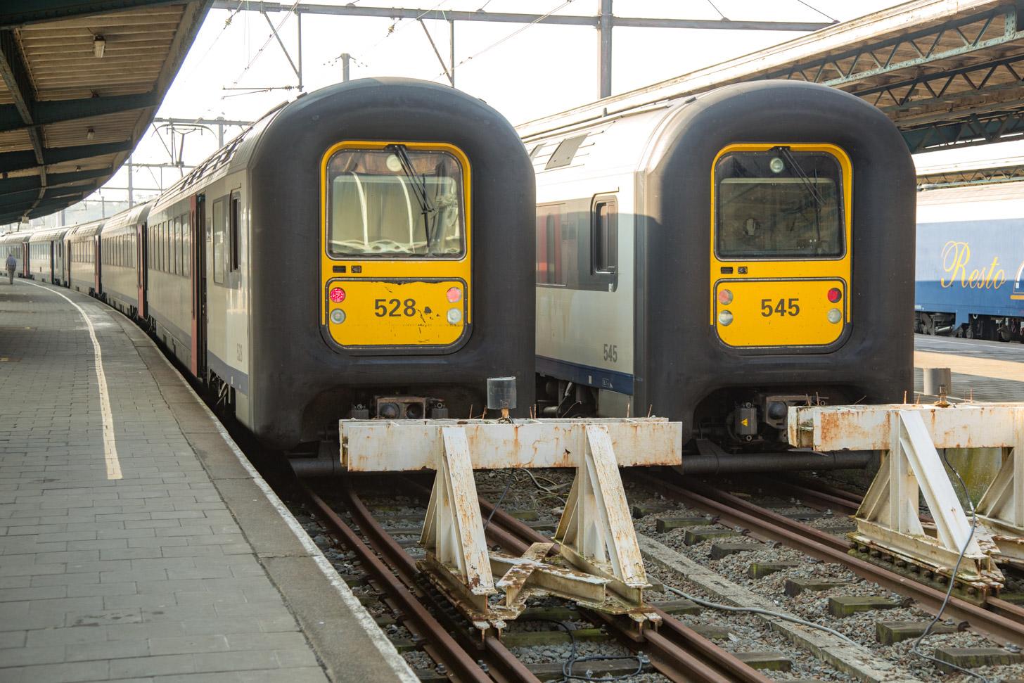 Met de trein naar Oostende